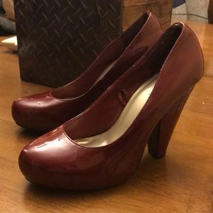 Forever 21 Dark Red chunky heels